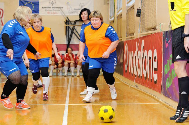 Varžybose ir treniruotėse močiutės dalyvauja kartu su anūkais