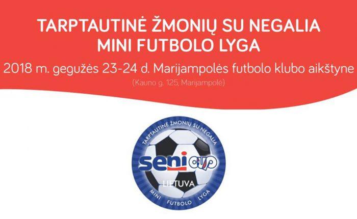 SENI CUP Tarptautinės žmonių su negalia futbolo lygos turnyras Marijampolėje!