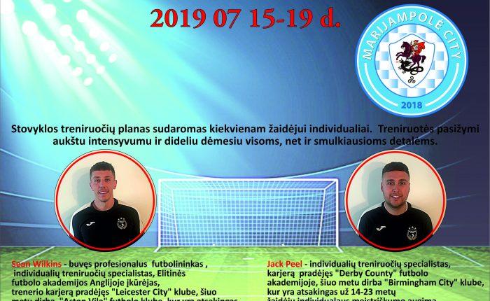 """""""Marijampolė City"""" ir The Elite Football Academy kviečia jaunuolius į stovyklą"""