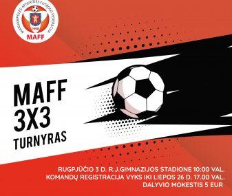 MAFF 3×3 Turnyras