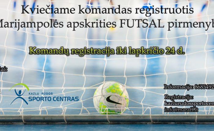 Prasidėjo registracija MAFF futsal pirmenybėms