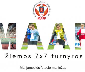Laikinai stabdomos MAFF žiemos 7×7 taurės varžybos