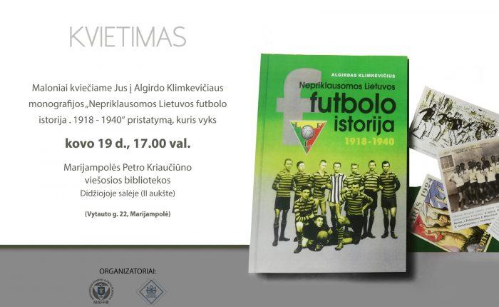 Knygos apie futbolą Nepriklausomoje Lietuvoje sutiktuvės